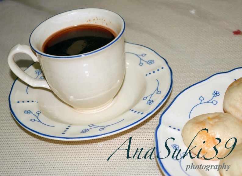 Ready to serve with my black coffee