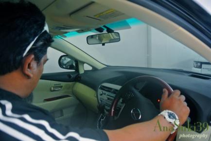 Hubby in Lexus